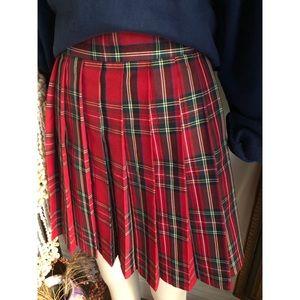 Plaid Pleated tennis skirt